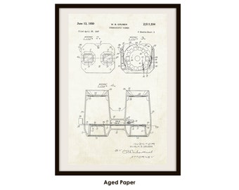View Master Patent Poster Print (Not Framed)