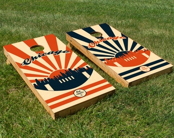 Chicago Bears Cornhole Board Set with Bean Bags