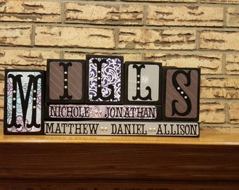 Customized Name Blocks