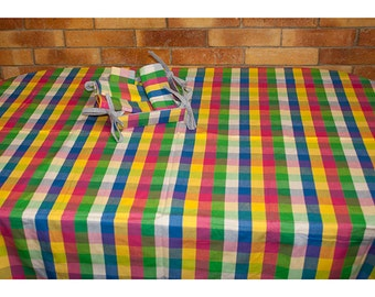 Hand Woven Egyptian Cotton Tablecloth with Napkins