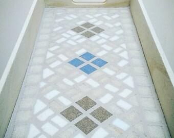 """White Mosaic Tray """"My Lovely Kitchen"""""""