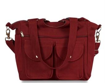 Burnt Red  all purpose tote bag
