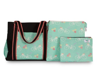 Bicycle print Baby bag