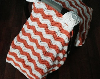 Infant Car Seat Cover, Chevron, Carseat, Baby Cover
