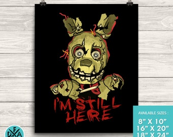 """New Five Nights At Freddy's Springtrap Poster Art Print Matte Finish All Sizes 18""""X24"""""""