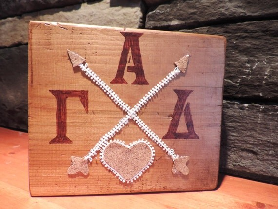Items Similar To Made To Order Alpha Gamma Delta Home