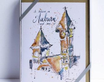 Auburn University Creed Notecard Gift Set – I Believe in Auburn– Samford Hall – University of Auburn
