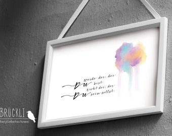 """A4 wall poster art print / poster """"Will you"""" / self-discovery / self love"""