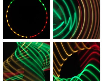 Sections Red Green & Yellow LED Hula Hoop