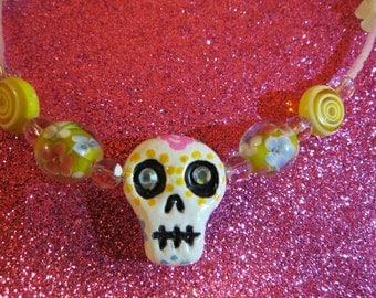Sugar Skull Beaded Necklace