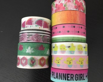 """CLEARANCE! 24"""" SAMPLES of Simply Gilded and Mommylhey washi tape (M17)"""