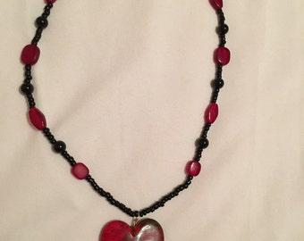 Lovely heart beaded necklace