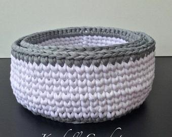 ON SALE Crochet Baskets (2) Round