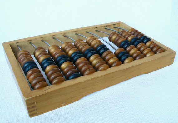 Russian Vintage Wooden Abacus Large Abacus Wooden