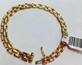14K Ladies Panther Link Bracelet