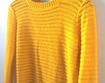 Vintage Canary Yellow JR Bazaar Sweater