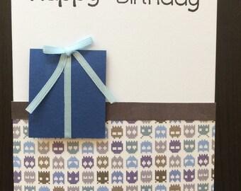 Funky Blue - Birthday card