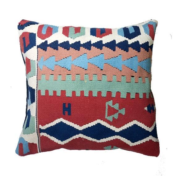 Turkish Throw Pillow Covers : Turkish Kelim Pillow Cover Decorative Kilim Pillows Tribal