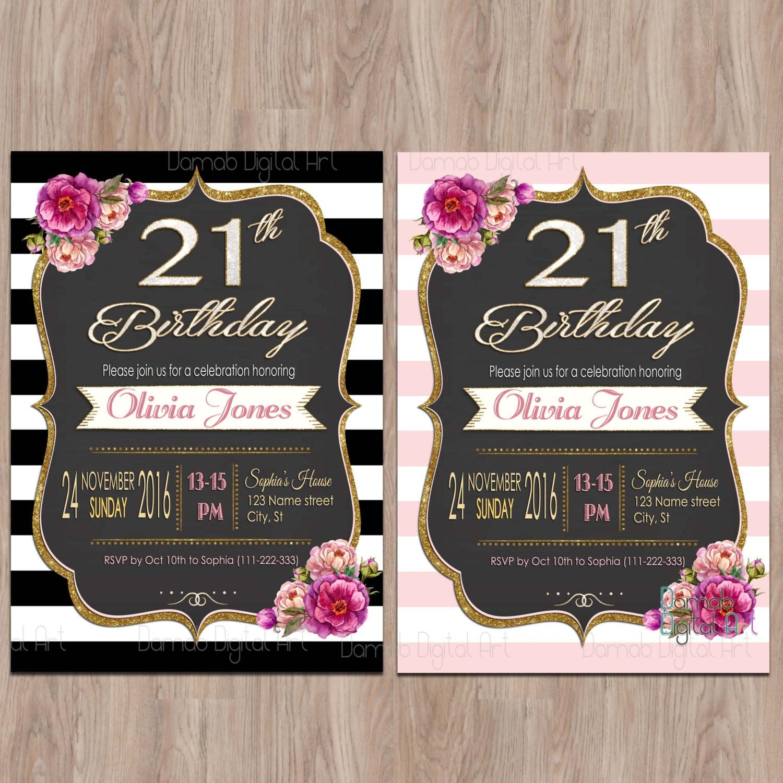 21st Birthday Invitations 21 Birthday Invitations Twenty