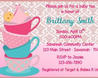 Baby Tea Shower Invitation