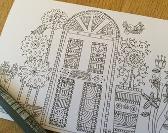 Colouring in Greeting Card