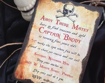 Pirate Invitation PDF