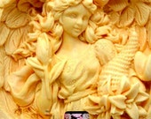 Angel mold cherub mold wings silicone mold baby mold woman mould free  shipping polymer clay  fimo sculpey  high detail