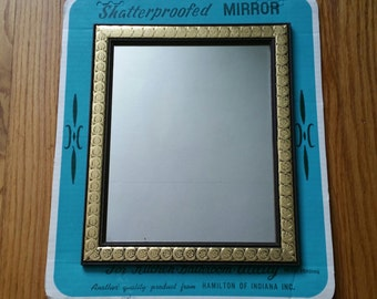 Vintage Shatterpoofed Mirror in Original Package