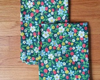 Pair of Vintage Floral Pillow Cases Very Colorful