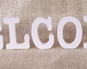 """2"""" Primed Wood Individual Letters Spelling WELCOME"""