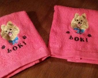 Embroidered Washcloth Set