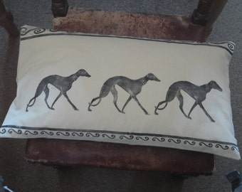 Greyhound cushion cover