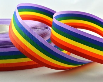 3 x metres GAY PRIDE Rainbow Ribbon 10mm 25mm 35mm