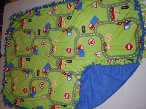 Fleece Blanket Car Blanket No Sew Hand Tied Fleece Tie