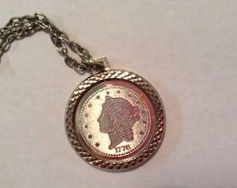 TwentyD 1976 coin Necklace
