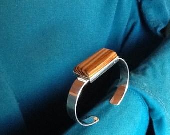 Zebrawood cuff bracelet