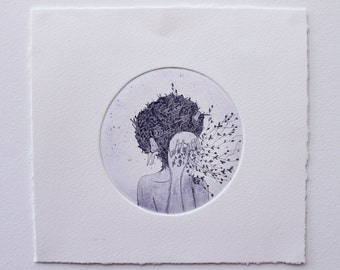 Limited Edition Etching Print - 'Selfless'