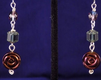 Cathedral and rose earrings