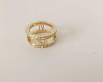 Trendy Gold Ring, Striking Lady's Ring, Gorgeous Gold Ring [Free Shipping]