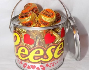 American Reese's peanut butter miniatures Valentine gift pot