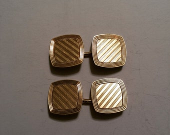 Vintage 14K Yellow Gold Pair of Cufflinks