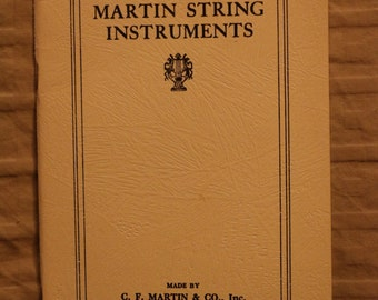 Martin Guitars *** reprint! ** of their 1924 price list, images and descriptions Mugwumps, Reduced!