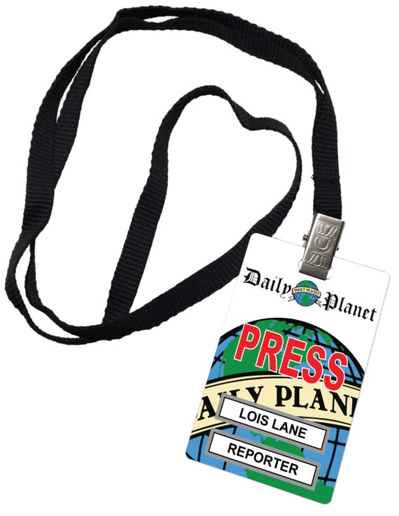 Lois Lane Daily Planet Press Pass Novelty ID Badge Prop