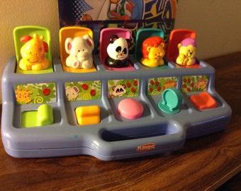 1995 Hasbro Pop Up Animal Toy