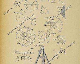 Astronomy Diagrams 17th Century - Digital Download Image Transfer Pillow Burlap Iron-On Teeshirt Fabric Scrapbooking Digital Stamp