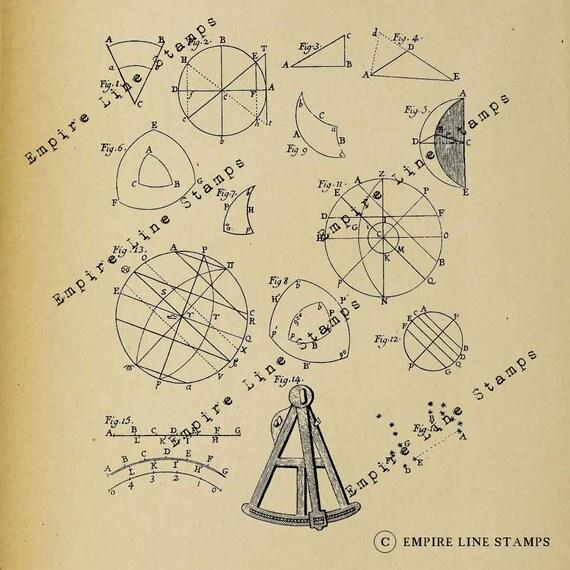 Astronomy Diagrams 17th Century Digital Download Image