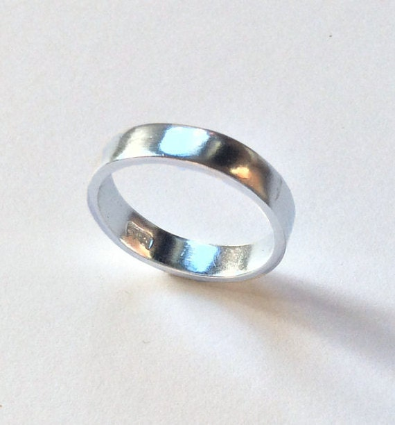 Wedding Band Plain Sterling Silver Ring Band Silver Band