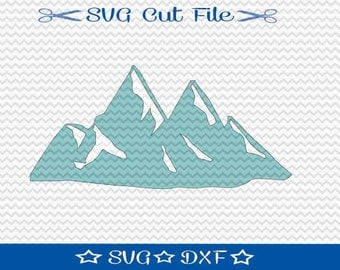 Mountain SVG File / SVG Cut File /  SVG File for Silhouette / Svg Designs