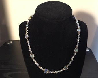 Swarovski Clear Crystal Beaded Necklace