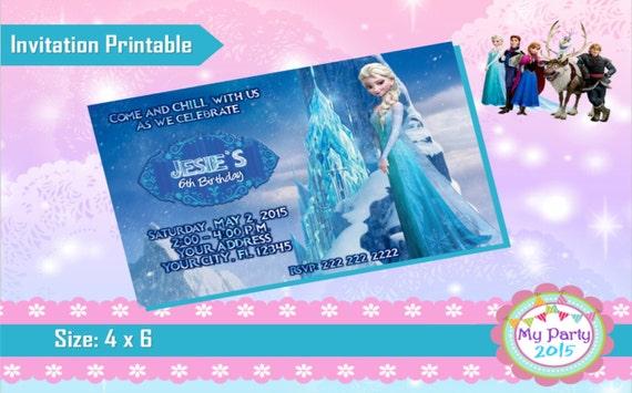 Frozen Birthday Party Invitation - Printable